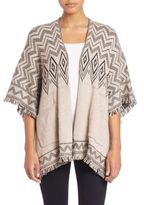 Splendid Diamond Open Front Poncho