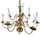 One Kings Lane Vintage Massive Brass Chandelier w/ Canopy