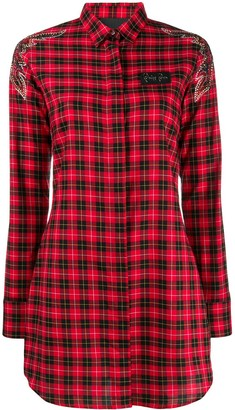 Philipp Plein Plaid Shirt Dress