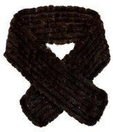 Adrienne Landau Knitted Mink Fur Scarf