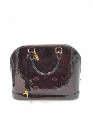 Louis Vuitton Alma Burgundy Patent leather Handbags