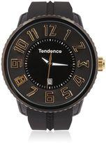 Tendence Round Gulliver Black & Yellow Watch