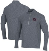 Under Armour Auburn Tigers Vanish Seamless Quarter-Zip Pullover Performance Jacket - Gray