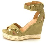 Tommy Hilfiger Womens Velvet2 Open Toe Casual Platform, Light Green, Size 7.0.