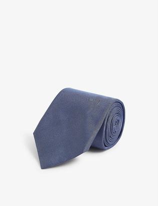 Corneliani Micro-circle print silk tie