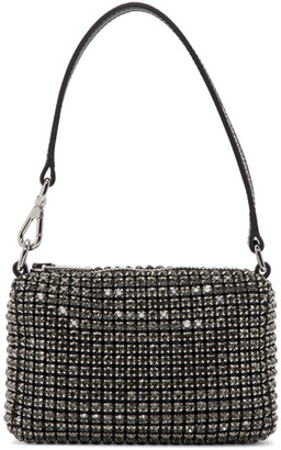 Alexander Wang SSENSE Exclusive Silver Micro Pouch Rhinestone
