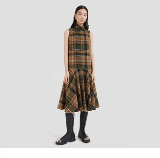 Mulberry Lexi Dress Green Tweed Check