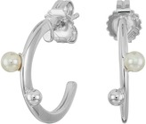 Majorica Hoop Post Pearl Earrings