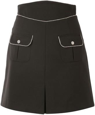 Rebecca Vallance Starwood crystal-embellished mini skirt