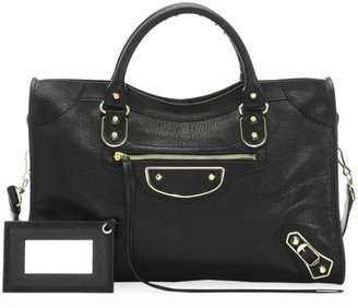Balenciaga Medium Classic City Metallic Edge Leather Satchel