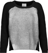 Michelle Mason Paneled ribbed cashmere-blend sweater