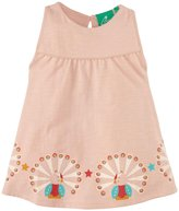 Little Green Radicals Peacock Story Time Summer Dress (Baby) - Pale Pink-12 Months