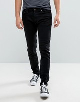 Hollister Super Skinny Stretch Jeans In Black