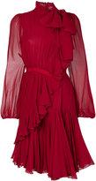 Giambattista Valli gathered dress with ruffle detail