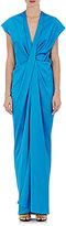 Lanvin Women's Draped-Front Gown-BLUE