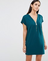 AX Paris Oversized Dress With Zip Front