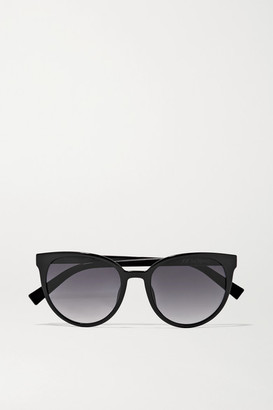Le Specs Armada Cat-eye Acetate Sunglasses - Black