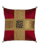 "Sweet Dreams Marrakesh Beaded Silk Pillow with Leopard Center, 15""Sq."