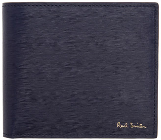 Paul Smith Navy Straw Grained Coin Bifold Wallet