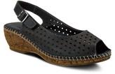 Spring Step Leather Slingback Peep Toe Sandals- Imiria