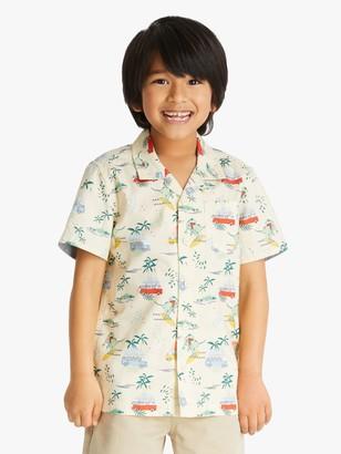 John Lewis & Partners Boys' Summer Print Shirt, Neutral