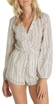 Billabong Women's Coastal Break Stripe Surplice Romper