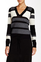 L.A.M.B. Bonded Striped Wool Sweater