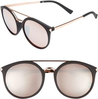 BP 55mm Mirrored Sunglasses