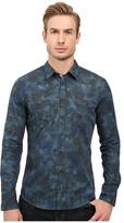 BOSS ORANGE Edoslime Water Color Print Shirt