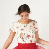 Disney Disney's Snow White a Collection by LC Lauren Conrad Print Bow Top