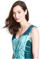 Joe Fresh Women's Print V-Neck Dress, Peacock Blue (Size XS)