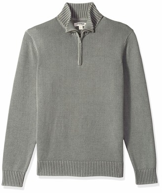 Goodthreads Amazon Brand Men's Soft Cotton Quarter Zip Sweater