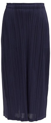 Pleats Please Issey Miyake Technical-pleated Midi Skirt - Navy