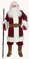 Fun World Costumes Men's Adult Old Time Santa Hooded Robe Set