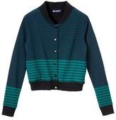 Petit Bateau Women's striped teddy jacket