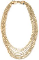 Carolee Gold-Tone Multi-Chain Statement Necklace