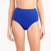 J.Crew Scalloped high-waist bikini brief in Italian matte