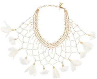 Rosantica Sentiero Faux-pearl And Flower Necklace - Womens - White