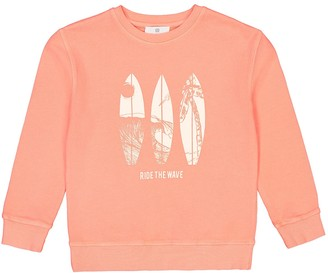 La Redoute Collections Cotton Printed Sweatshirt with Crew-Neck, 3-12 Years
