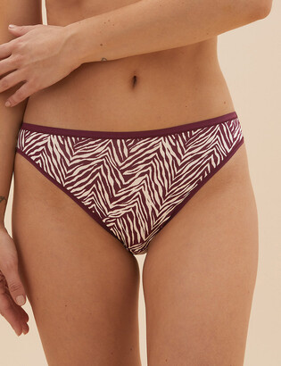 Marks and Spencer 5 Pack No VPL Zebra Print High Leg Knickers