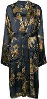 Vera Wang ormalu print robe dress