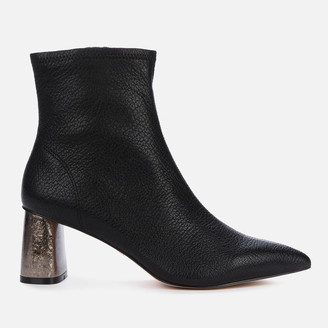 Kurt Geiger Women's Rio Leather Heeled Ankle Boots - Black