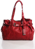 Gryson Red Leather Shoulder Handbag Size Medium