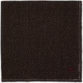 Isaia Men's Plain-Weave Pocket Square-DARK BROWN, BROWN