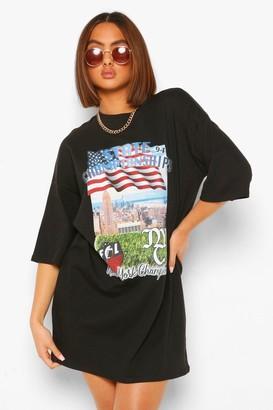 boohoo Basket Ball Short Sleeve T Shirt Dress