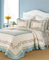 Martha Stewart Collection Cotton Prairie House Morning Sky Twin Bedspread, Only at Macy's