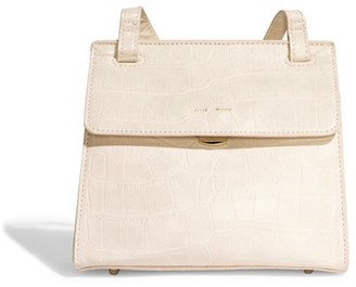 Pixie Mood Christy Crossbody Bag White Croc
