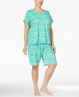 Lauren Ralph Lauren Plus Size T-Shirt and Bermuda Shorts Pajama Set