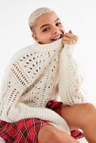 Urban Outfitters Devon Pointelle Knit Sweater