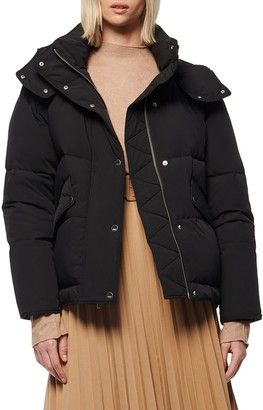 Andrew Marc Hooded Down Puffer Jacket